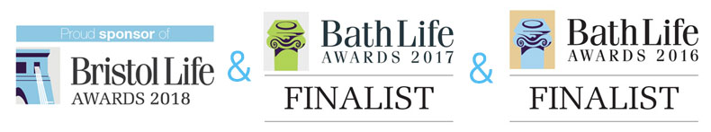 Proud sponsor of Bristol Life Awards 2018 + Bath Life Awards 2017 Finalist + Bath Life Awards 2016 Finalist