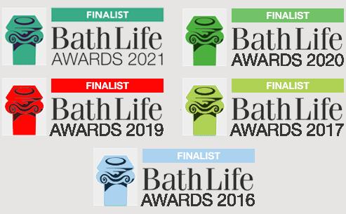 Bath Life Awards 2021, 2020, 2019, 2017 & 2016
