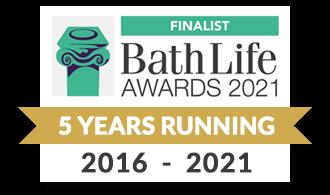 Bath Life Awards Finalist - 5 Years Running - 2016-2021